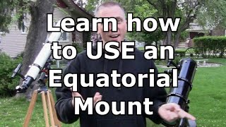 How to use an equatorial mount for amateur telescopes