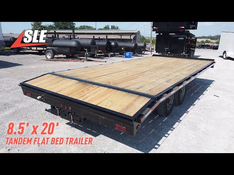 Equipment Trailer 8.5 X 20 Tandem Flat Bed Deckover