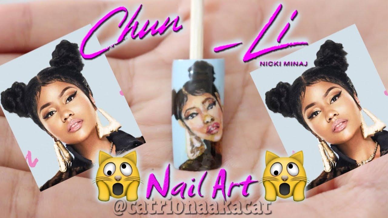 Chun-Li Challenge | Chun-Li Nail Design | Nicki Minaj Nail Art - YouTube