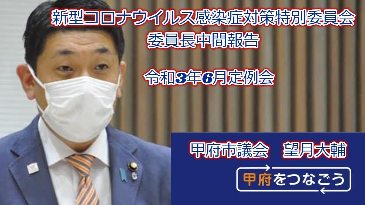 新型コロナウイルス感染症対策特別委員会 委員長中間報告