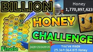 BILLION HONEY CHALLENGE!!! ( *FINAL* ) - Roblox bee swarm simulator