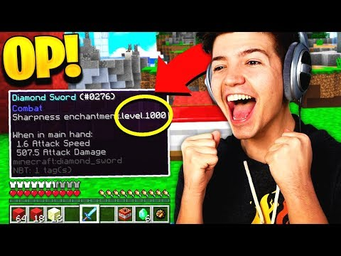 Admin gives me OP 1 000 SHARPNESS Diamond Sword in BEDWARS