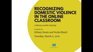 Recognizing DV in the Online Classroom
