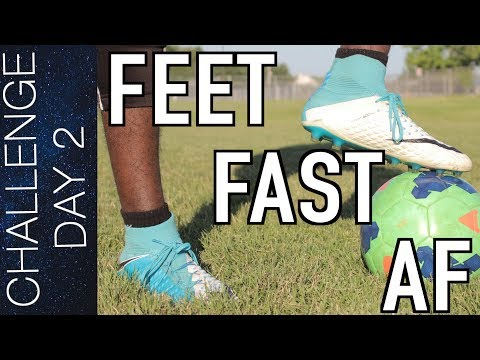TOP 10 FAST FOOTWORK DRILLS - FAST FEET AND BALL MASTERY TRAINING  DAY 2