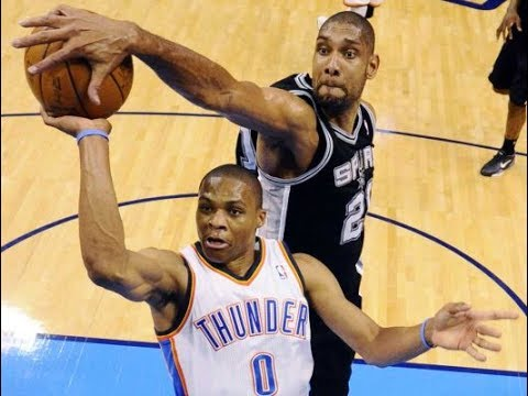 Tim Duncan Blocking NBA Superstars