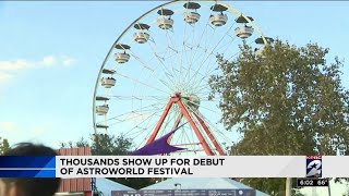 Thousands show up for debut of Astroworld Festival
