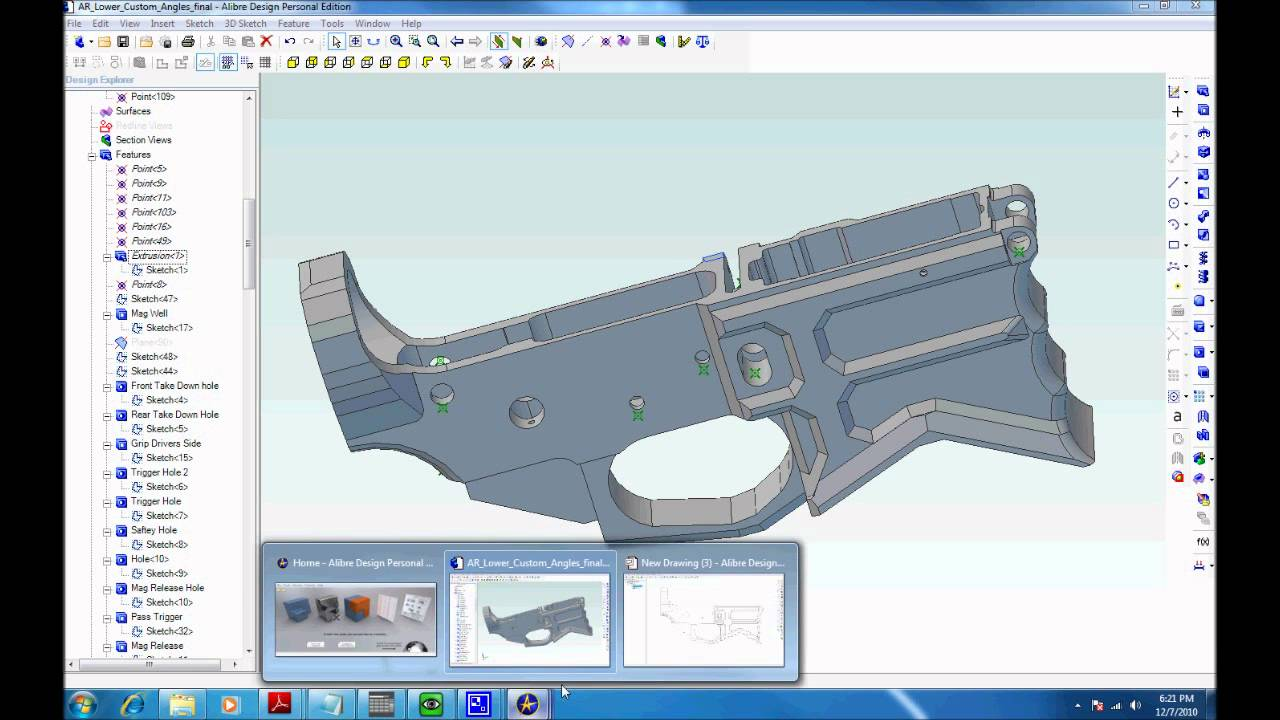software for designing and milling an ar15 lower from