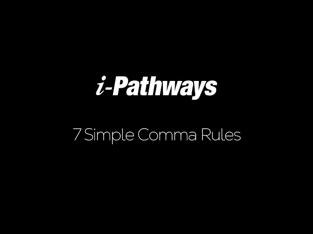 7 Simple Comma Rules