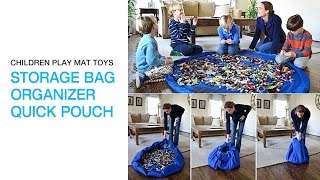Children Play Mat Toys Storage Bag Organizer Quick Pouch