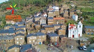 Piódão aerial view - The schist village -  Serra do Açor - 4K UltraHD