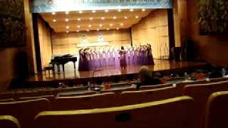 Miriam College High Schoo Glee Club competing in the 6th World Choir Games held in Shaoxing, China last July 23, 2010. They won Silver X in this category.
