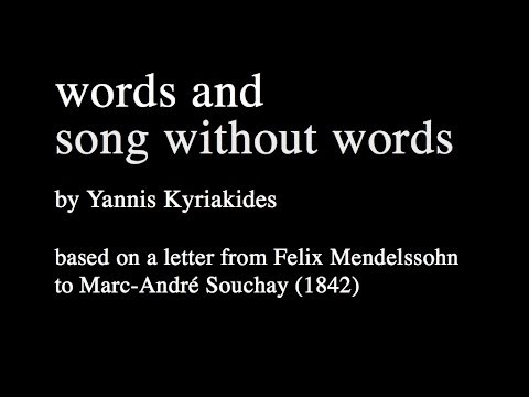 Words and song without words