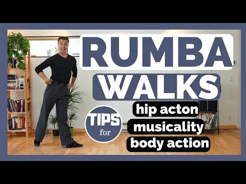 RUMBA WALKS TECHNIQUE  TUTORIAL