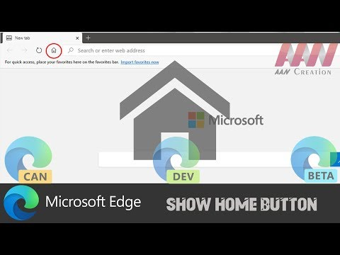 How to Show Home Button on Chromium Version of Microsoft Edge