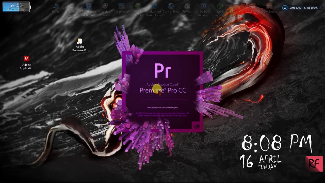 Tutorial Install Adobe Premiere Pro CC  Free & 100% work