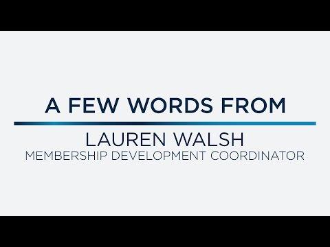 A Few Words from Lauren Walsh