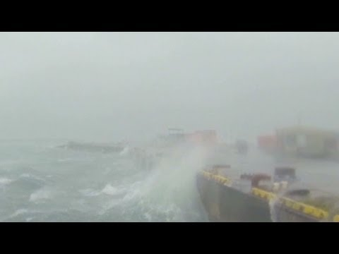 Powerful Typhoon Neoguri strikes Japan