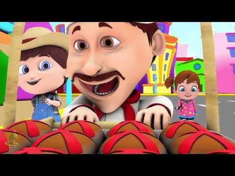Горячие кросс-булочки | Детские песни | мультфильмы для детей | Little Treehouse | Hot Cross Buns