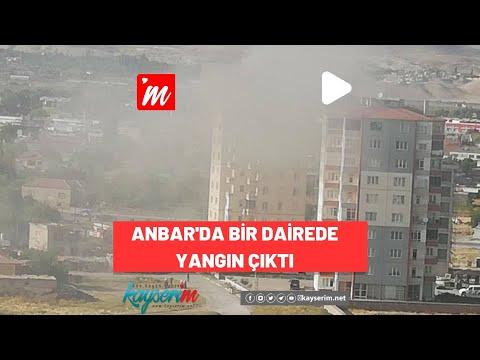 Anbar'da Bir Dairede Yangın Çıktı