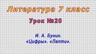 Литература 7 класс (Урок№20 - И. А. Бунин. «Цифры». «Лапти».)