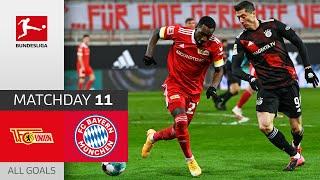 #fcufcb   highlights from matchday 11!► sub now: https://redirect.bundesliga.com/_bwcs watch all goals of union berlin vs. fc bayern münchen 11...