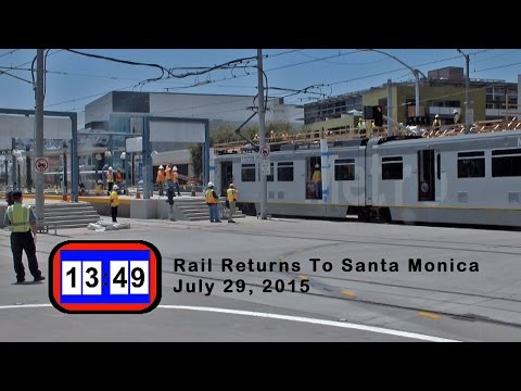 Expo First Passenger Train 2015-07-29 Returns to Santa Monica