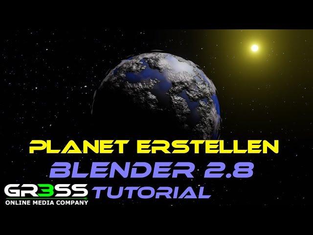 Blender 2.8 Tutorial | Planet erstellen ohne Texture mit Wolken.