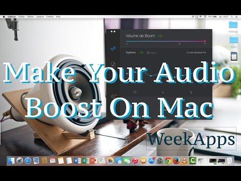 How do i make the volume louder on my mac