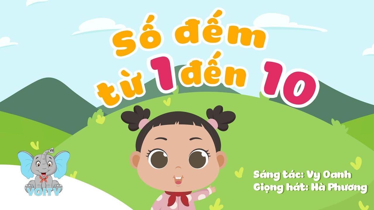 image Bé học đếm từ 1-10 | Bài hát học số đếm | Counting 1-10 | Nhạc thiếu nhi hay nhất