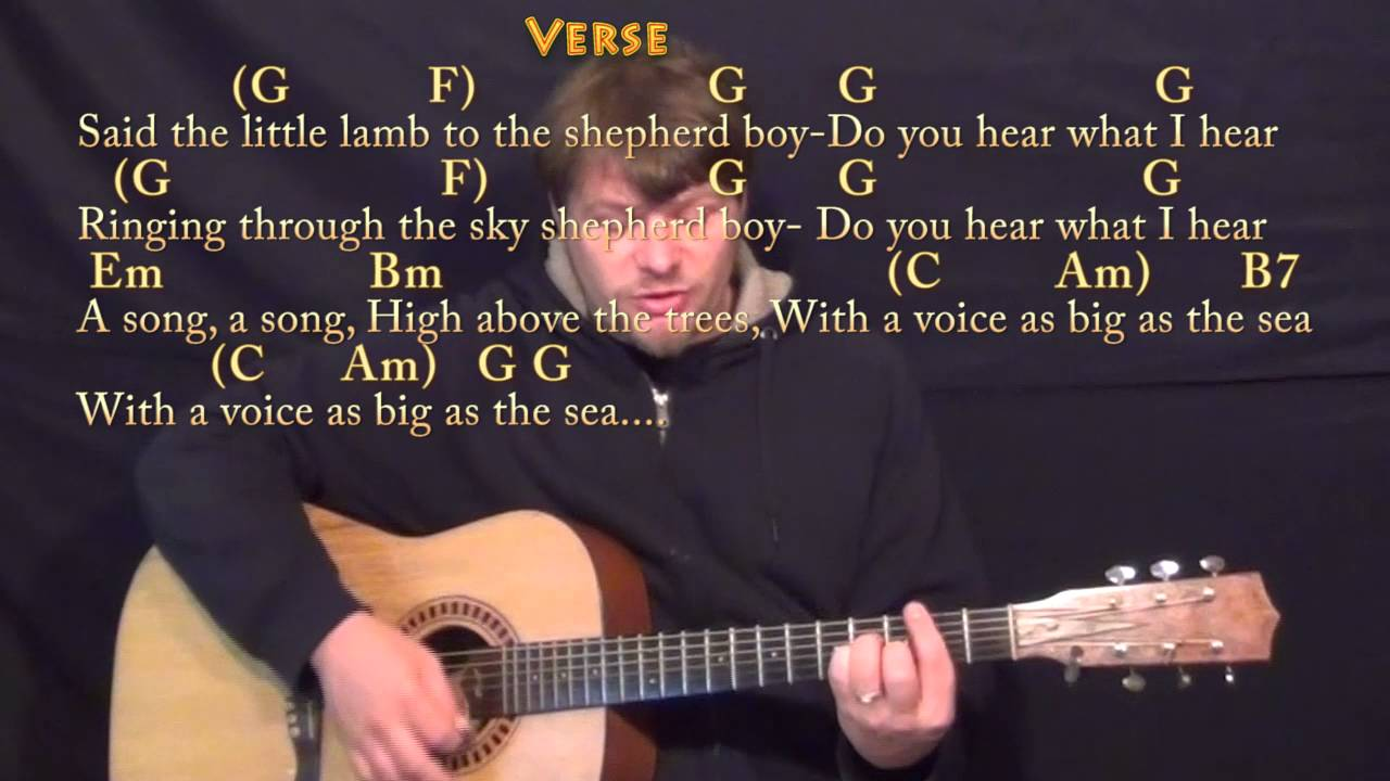 Do You Hear What I Hear Christmas Guitar Cover Lesson In G With