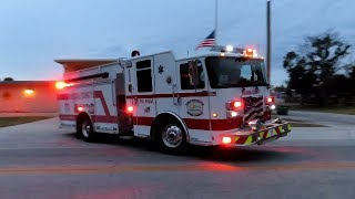 Engine 11 Responding + Tones -  Volusia County Fire Rescue