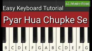 Mix- Pyar Hua Chupke Se Keyboard Tutorial Resimi