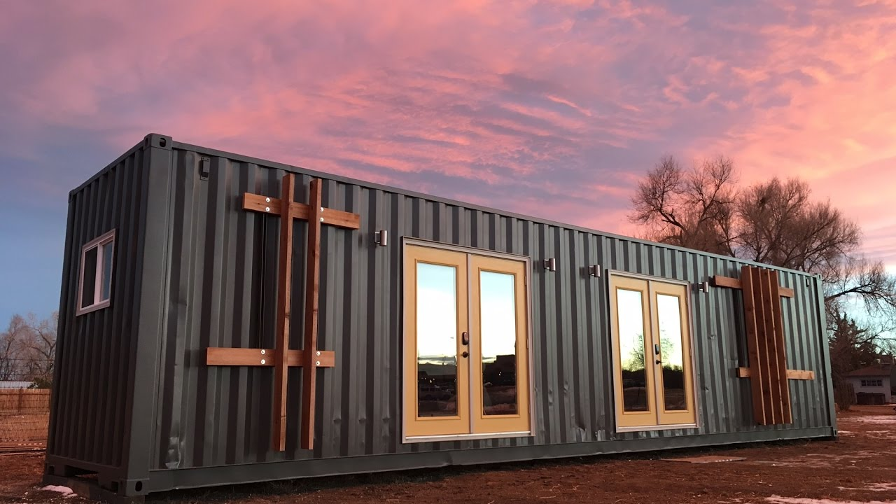 Best Kitchen Gallery: The Intellectual Container Tiny House Is For Sale Youtube of Shipping Container Tiny Home on rachelxblog.com