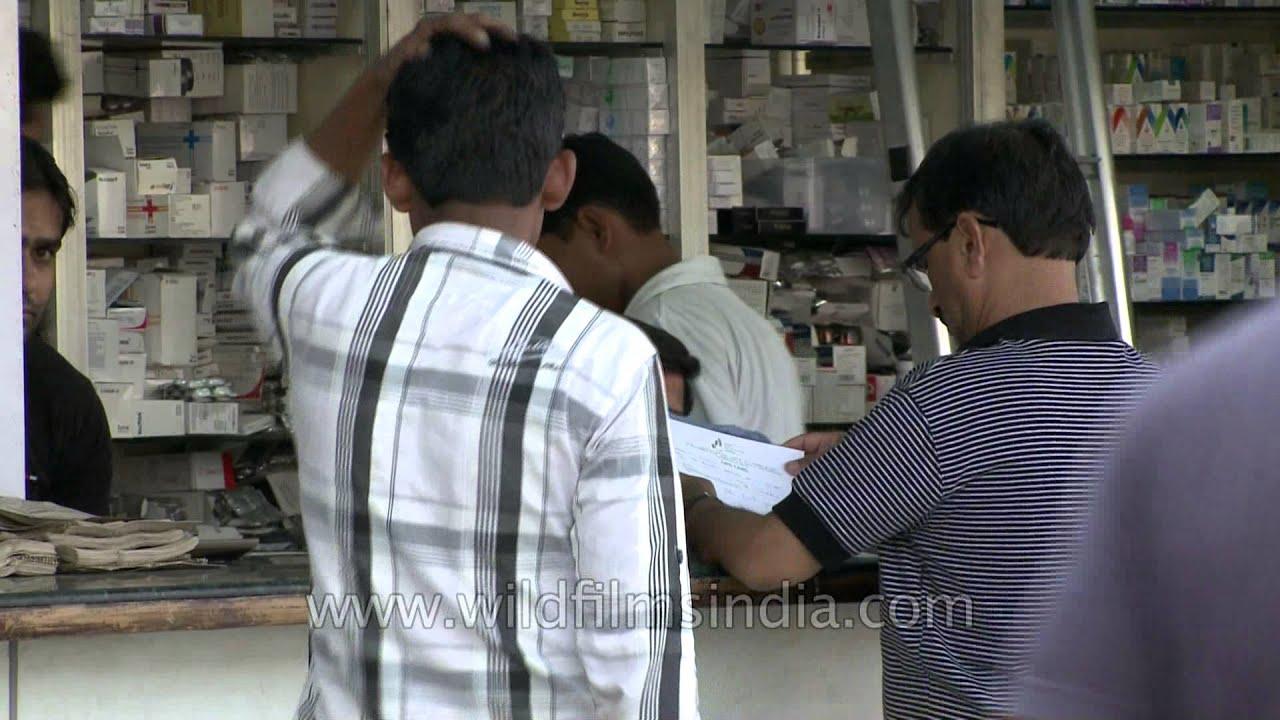 Medicine point at Chandni Chowk market, Delhi