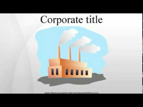 Corporate title
