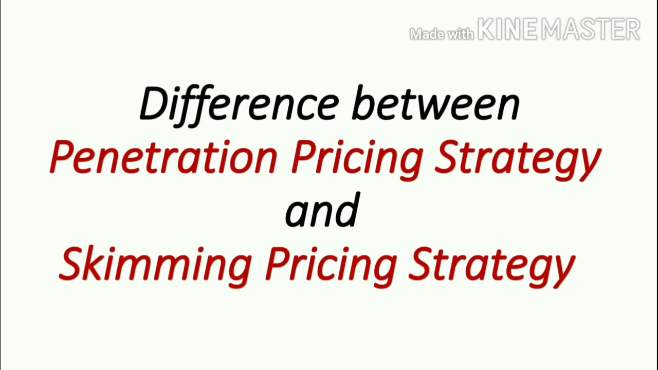 Difference Between Penetration Pricing Strategy and Skimming Pricing  Strategy    UGC Net/Jrf    - YouTube