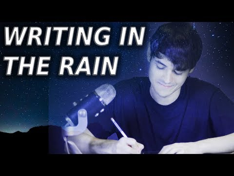 Writing in the Rain ASMR (Pen Scribbling on paper sounds)
