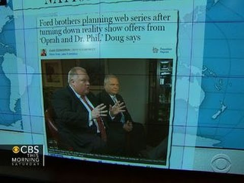 Headlines: Toronto's embattled Mayor Rob Ford takes to YouTube