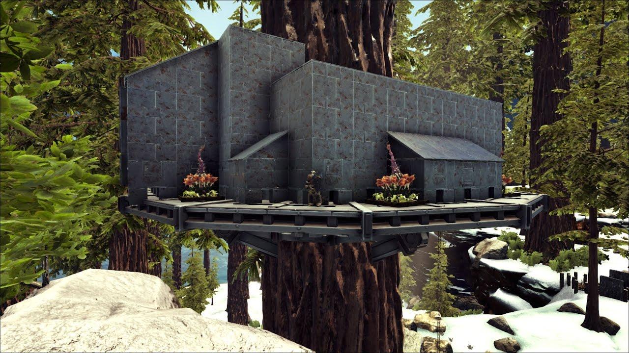 Ark Survival Tree House Upgrade To Metal P2 Ark Asylum 8