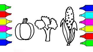 Drawing 3 Vegetables | Coloring Pages