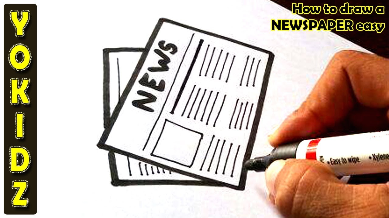 How To Draw A Newspaper Easy Youtube