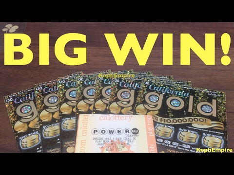 WOW OMG ANOTHER BIG WIN?! California Gold $30 Scratcher