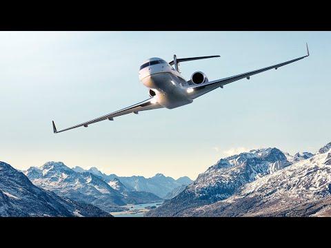 Les avions Global à St-Moritz - Performant en toutes conditions