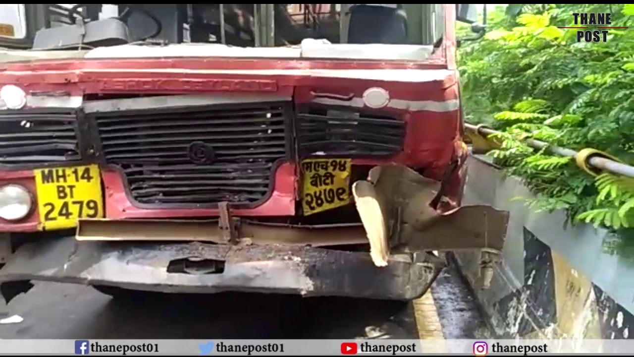 Two bus accident in Thane, 28 Wounded | Thane Post