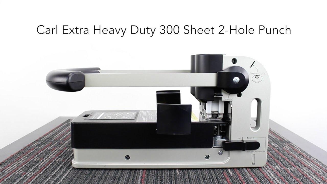 Carl Extra Heavy Duty 300 Sheet 2 Hole Punch Hd 530n