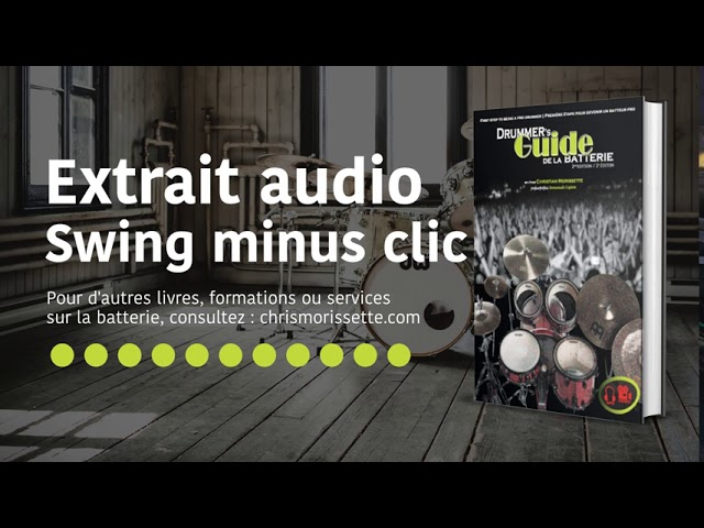 Extrait audio Swing minus clic - Drummer's Guide de la batterie