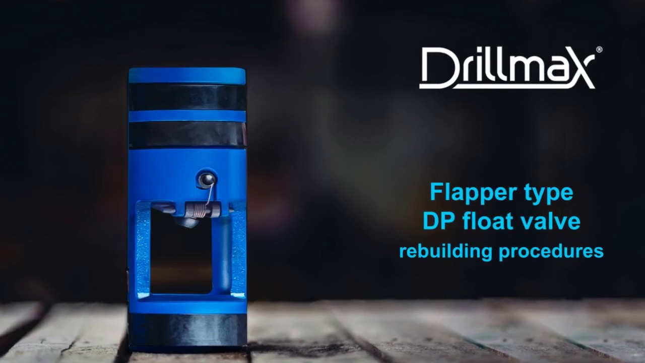Drillmax drill pipe float valve flapper type rebuilding procedures