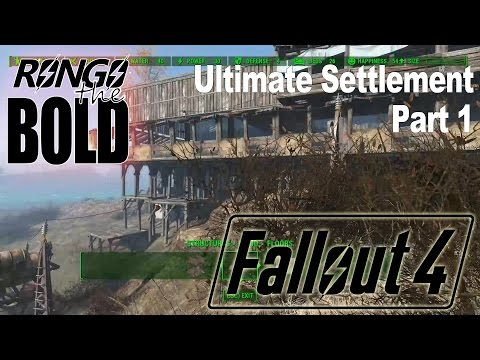 Rongo builds his ultimate Fallout 4 Settlement - Part 1