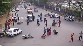 Nepal Earthquake CCTV footage Bhadrakali Gate Kathmandu 25 April 2015