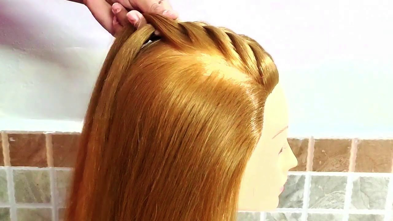 EASY HAIRSTYLE IDEAS FOR PARTY GIRLS / UNIQUE BRAIDED FRONT HAIF BUN / CUTE & PRETTY GIRLS HAIRSTYLE